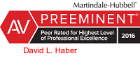 David L Haber Martindale Hubbell Rating